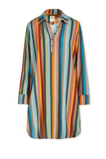 Nachthemd Lange Mouw Folklore Stripe Multi