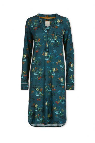 Nightdress Leafy Stitch Blue