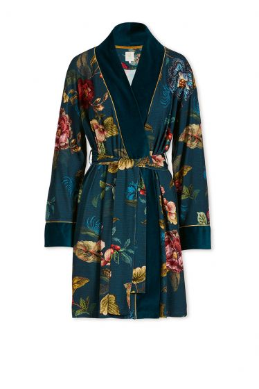 Kimono Poppy Stitch Blau