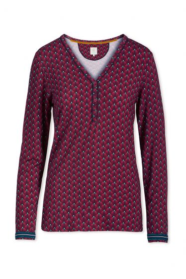 Top Long Sleeve Lilly Lotus Red