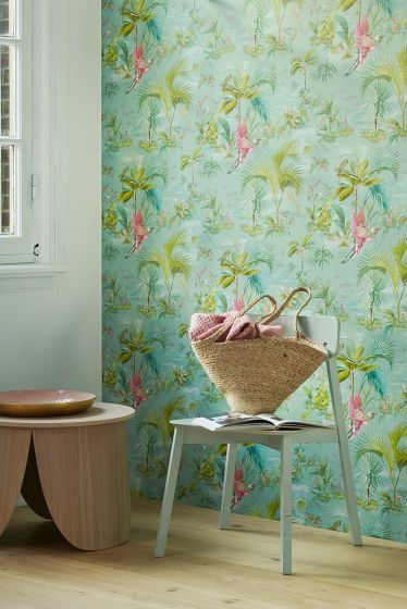 wallpaper-non-woven-vinyl-paradise-bird-palms-blue-pip-studio-palm-scene