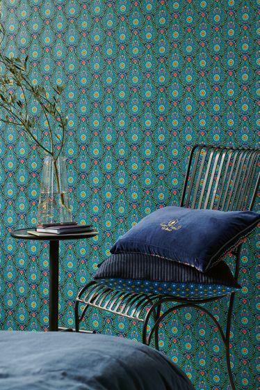 behang-vlies-behang-vinyl-botanische-print-donker-blauw-pip-studio-raindrops