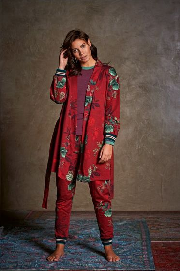 Homewear Set Flowers in Red