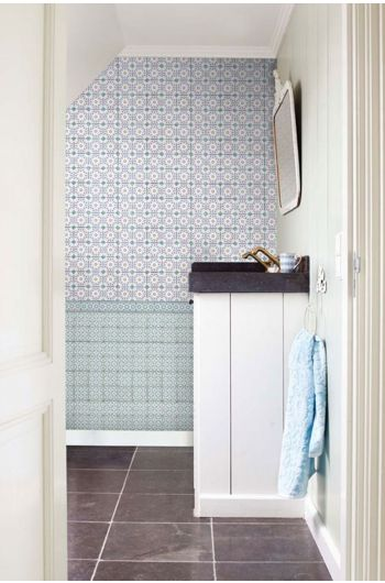 Bright Pip Tiles wallpower blue