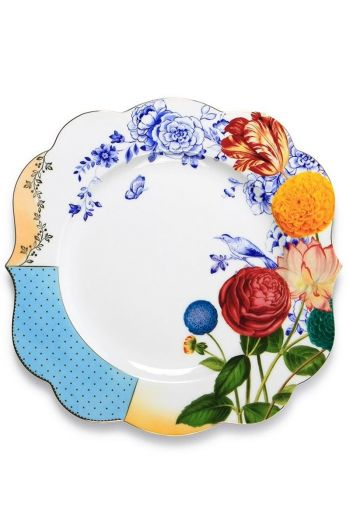 Royal dinner plate multicoloured