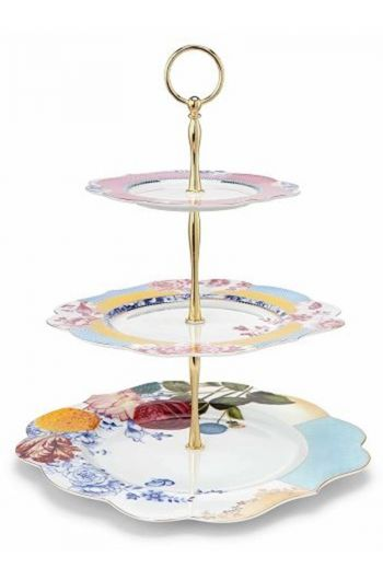Royal 3-layered cake stand multicoloured