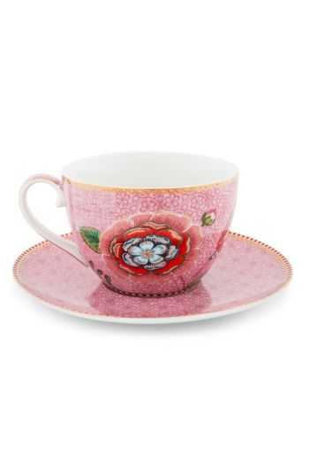 Spring to Life Cappuccino Cup & Saucer Pink