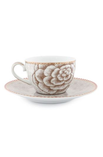 Spring to Life Espresso Cup & Saucer Off White