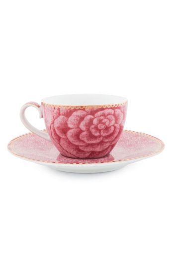 Spring to Life Espresso Cup & Saucer Pink
