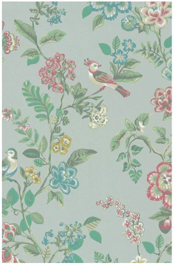 Botanical Print wallpaper light green
