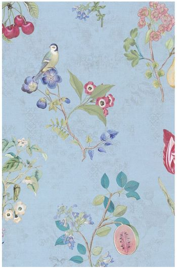 Cherry Pip wallpaper light blue