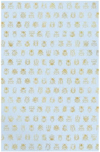 Lady Bug wallpaper light blue