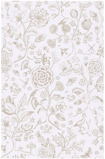 Spring to Life two tone wallpaper off white