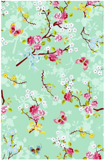 Chinese Rose wallpaper green