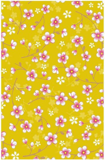 Cherry Blossom wallpaper yellow