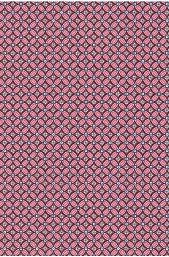 Geometric Tapete bordeauxrot