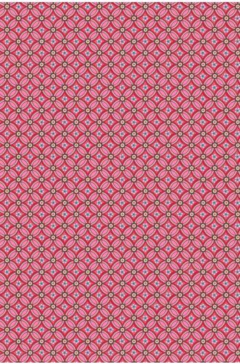Geometric Tapete rot