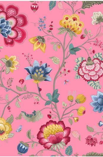 Floral Fantasy behang lichtroze