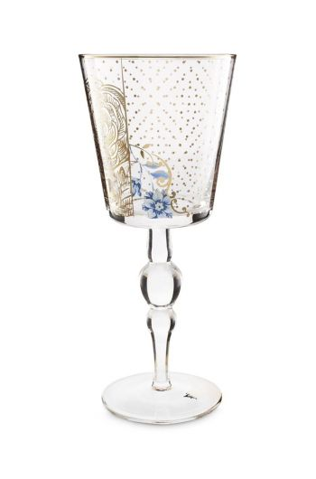 Royal Golden Flower wine glass high