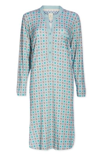 Nightdress buttons Double Check groen
