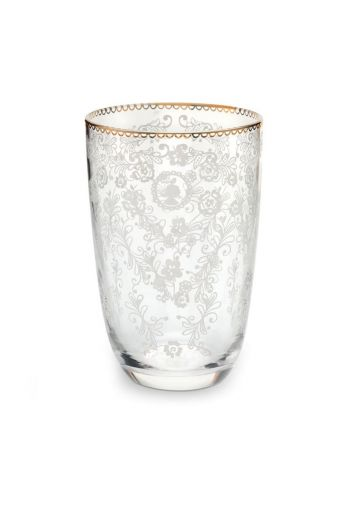 Floral longdrink glass