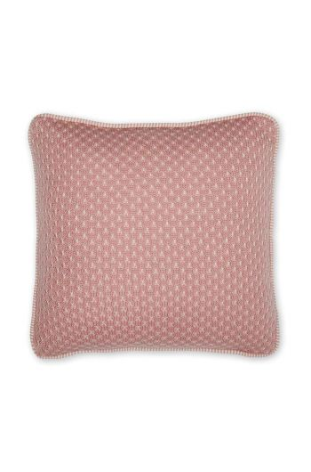 Cushion Cosy knitted square pink
