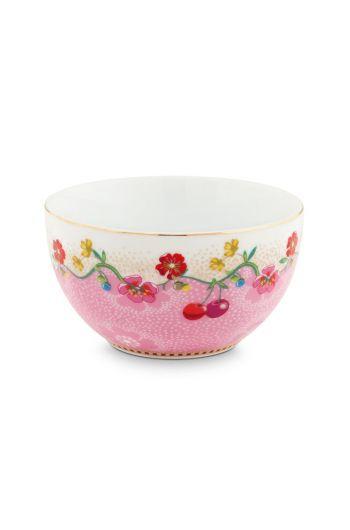 Floral kom Cherry 12 cm Roze