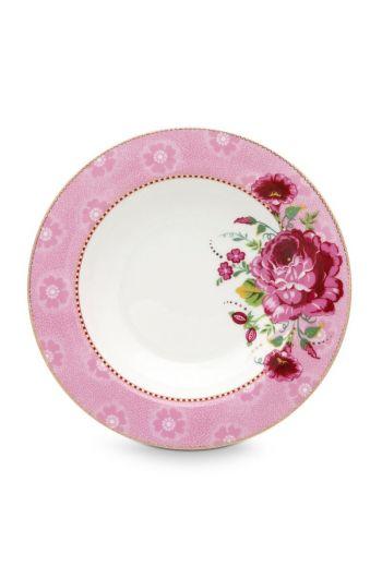 Floral soepbord Rose 21 cm Roze