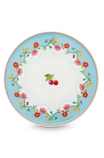 Floral Mini Cake Tray Cherry Blue
