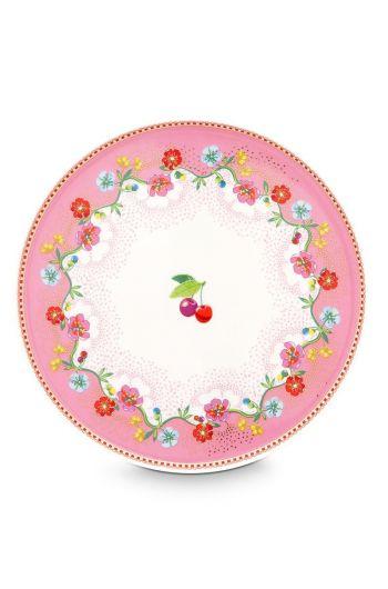 Floral mini taartplateau Cherry Pink Roze