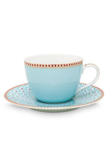 Floral Espresso Cup & Saucer Bloomingtails Blue