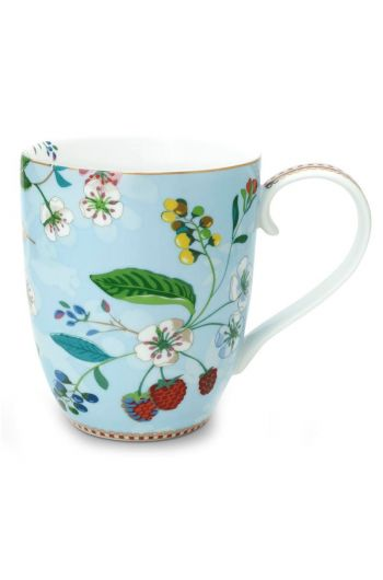Floral Mug XL Hummingbirds Blue