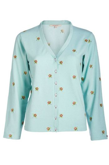 Cardigan long sleeve Jaipur Dot blue