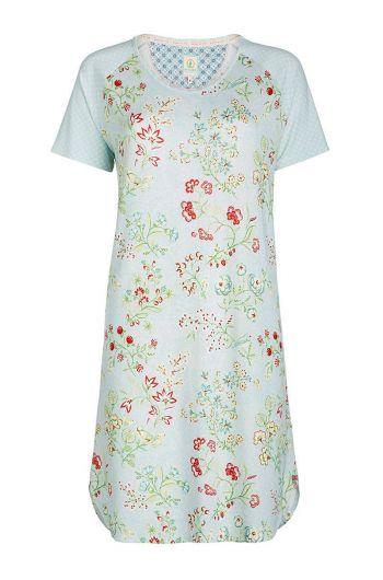 Short sleeve nightdress Jaipur Flower blue