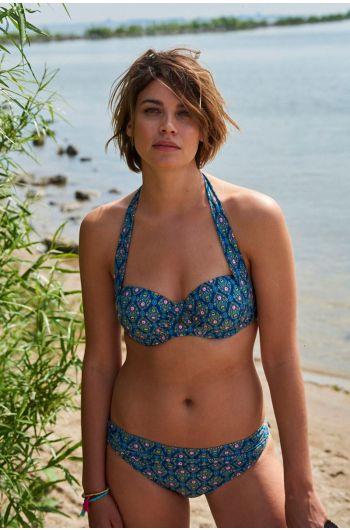 Bikinitop mit Bügel Mumbai Heart blau