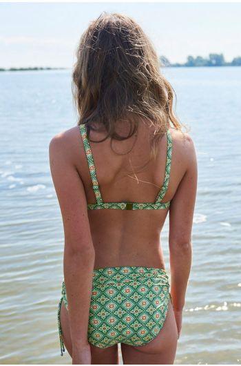 Bikinihöschen mit Schnüren Star Check blau