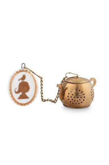 Royal White Tea Infuser Medaillon