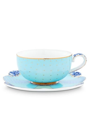 Royal Espresso Cup & Saucer Blue