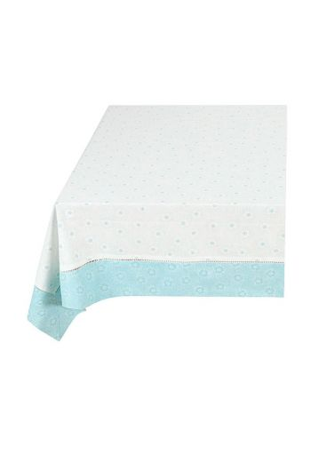 Floral Table Cloth Dotted Flower Blue