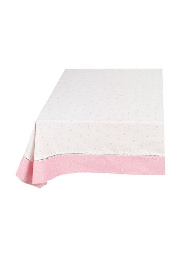 Floral Table Cloth Dotted Flower Pink