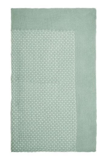 Blanket Cosy knitted green