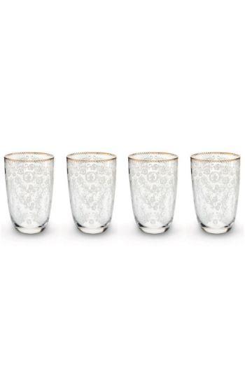 Floral Geschenkset 4 Longdrink-Gläser
