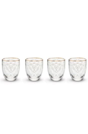Floral Set/4 Water Glasses