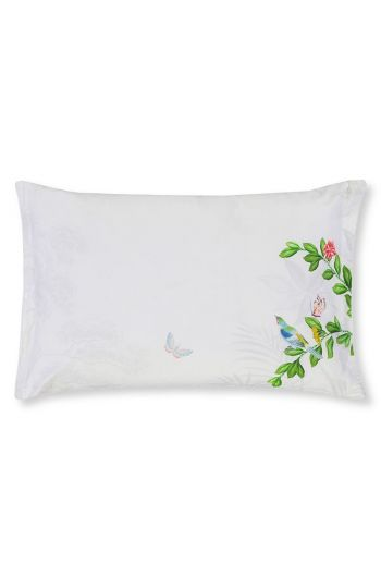 Cushion Indian Palms rectangle White