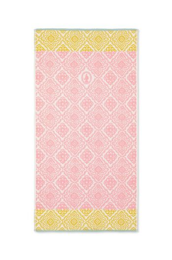 Bath towel Jacquard Check Pink