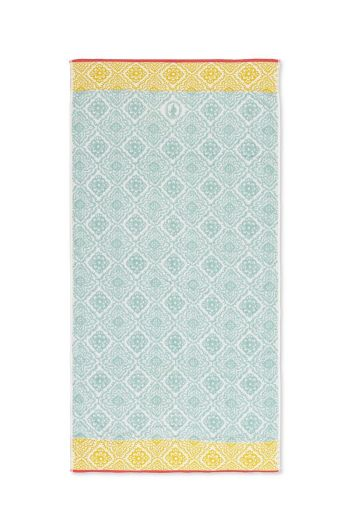 XL Bath towel Jacquard Check Light blue 70x140 cm