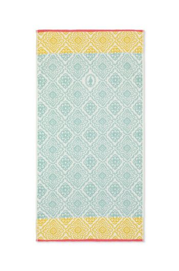 Bath towel Jacquard Check Light blue
