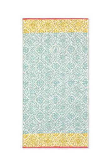 Bath towel Jacquard Check Light blue 55x100 cm