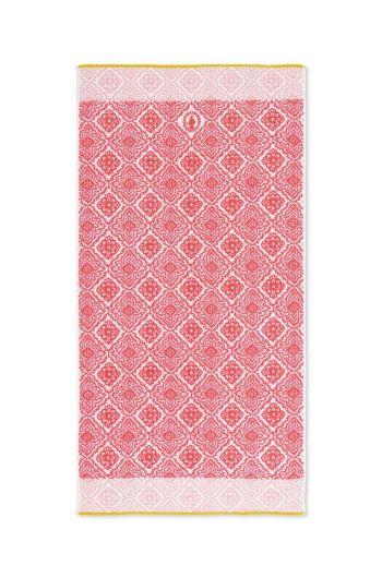 XL Bath towel Jacquard Check Dark pink 70x140 cm