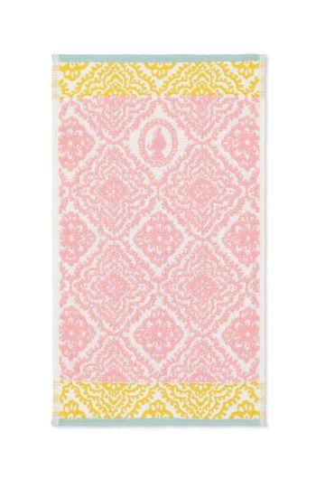 Guest towel Jacquard Check Pink 30x50 cm